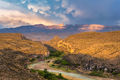 sierra, del, carmen, sunset, big, bend, national, park, texas, usa, storm, light, rio, grande, mountains