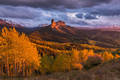 owl, creek, sunset, ridgway, colorado, usa, autumn, chimney, rock, courthouse, mountain,