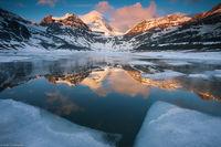Assiniboine Icy Sunrise