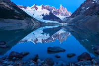 Laguna Torre Reflection print
