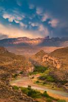 Sierra del Carmen Sunset print