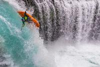 Spirit Falls Kayaker print