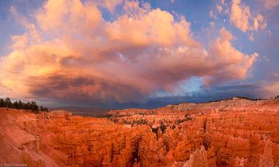 bryce, canyon, sunset, dramatic, storm, sunset, hoodoos, national park