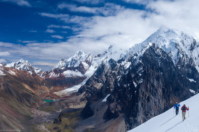 trekking, huayhuash, cordillera, huaraz, peru, high, passes, circuit