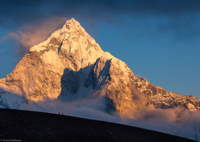 ama dablam, sagarmatha, national, park, nepal, figures, massive, everest, region, himalaya