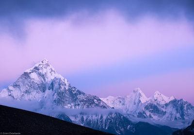 ama dablam, sagarmatha, national, park, nepal, pastel, colors, rays, light, everest, himalaya