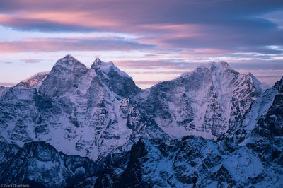 kangtega, thamserku, sagarmatha, national, park, himalaya, nepal, lobuche east, sunrise, everest, region,