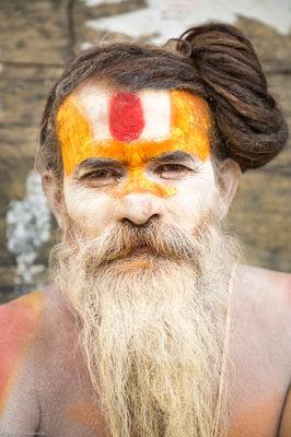 katmandu, sadu, nepal, holy man, portrait, hindu, temple, pashupatinath