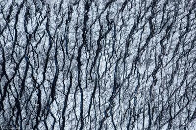 glacier, abstract, vatnajökull, cravases, iceland, aerial, pattern,
