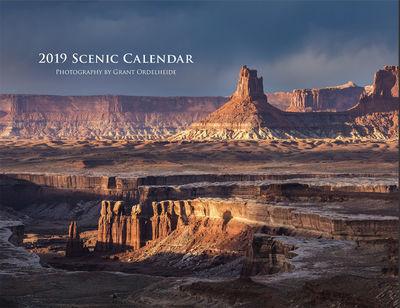 2019, scenic, calendar