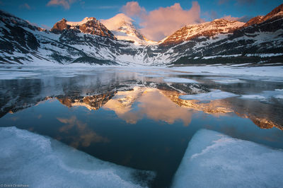 Assiniboine, Icy, Sunrise, British Columbia, B.C, Magog, lake, morning, Canada