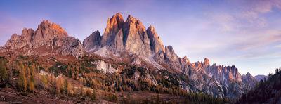 dolomites, cadini, group, cortina d'Ampezzo, italy,  refugio, , clouds, sunrise