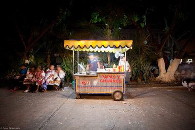 churro, man, works, stand, town square, merida, yucatan, capital city, mexico