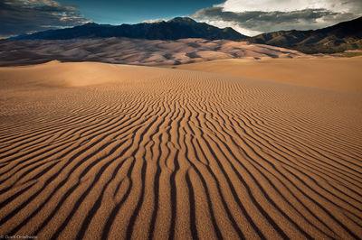 sand, dunes, great, national park, colorado, ripples, mt. herard, sangre de cristos