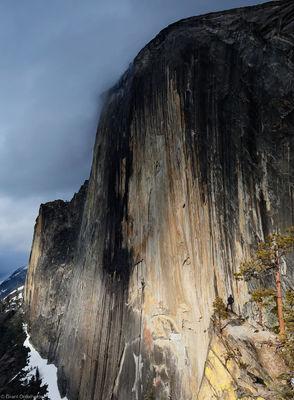half, dome, yosemite, national, park, california, diving, board, impressive, iconic
