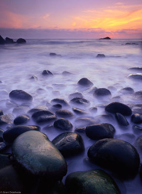 hidden beach, california, northern, coast, sunset, klamath