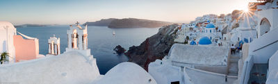 oia, santorini, sunset, greece, greek, island, beautiful, city