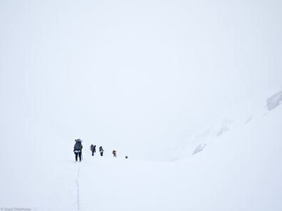 descending, cerro, castillo, national, reserve, chile, rope, team, pass, whiteout, storm