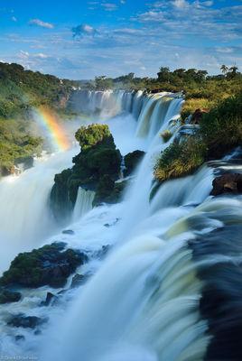iguazu, falls, puerto, argentina, massive, waterfalls, border, brazil, biggest, south america, impressive.