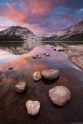 tenaya, lake, sunset, popular, yosemite, national park, california, usa, high country
