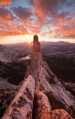 eichorn, pinnacle, sunset, yosemite, national, park, california, usa, climber, climbing, granite, tower, cathedral, peak