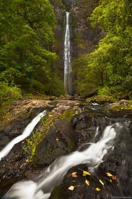 hanakapiai, falls, na pali, coastline, kauai, hawaii, beautiful, secluded, waterfall