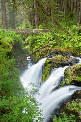 sol, duc, falls, washington, olympic, national, park, usa