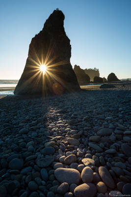 ruby, beach, sunset, olympic, national, park, washington, usa, seasick, hole, sun,