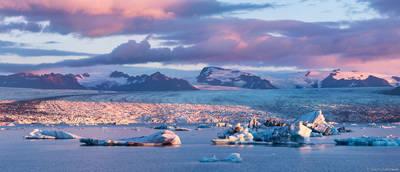 Jökulsárlón, ice, lagoon, south, iceland, sunrise, southern, coast
