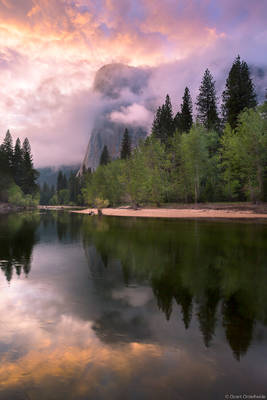 spring, el, cap, el capitan, clearing, storm, yosemite, national park, california, usa, merced, river, valley,