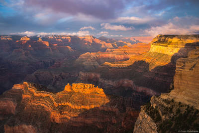 powell, point, sunset, grand, canyon, national, park, arizona, usa, south, rim,