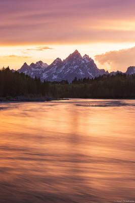 snake, river, sunset, grand, teton, national, park, wyoming, usa, tetons,