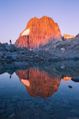 snowpatch, spire, bugaboo, provincial, park, british, columbia, canada, climber, sunrise, massive,