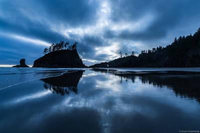 second, beach, olympic, national, park, washington, usa, dusk,
