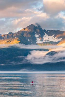 resurrection, kayak, seward, alaska, usa, sea, kayaker, paddles, bay