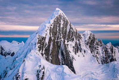 mount, huntington, denali, national, park, alaska, usa, aerial, view, picturesque,