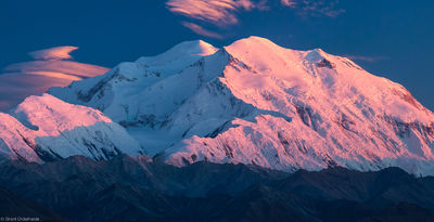 great, one, denali, national, park, alaska, usa, north, america, sunset, peak