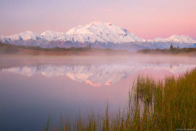 denali, sunrise, national, park, alaska, usa, highest, peak, north, america,