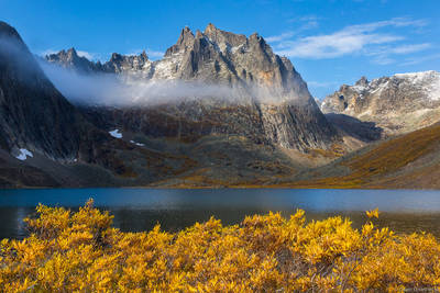 grizzly, lake, autumn, tombstone, territorial, park, yukon, canada,
