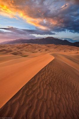sand, dunes, sunset, great, national, park, colorado, north, america, largest, alamosa, colorado