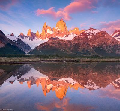 mount, fitzroy, reflection, el chalten, argentina, poincenot, pond, campground