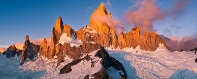 fitzroy, massif, el chalten, argentina, sunrise, mount, summit, cerro madsen, climbed, cold, windy, view, world
