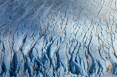 piedras, blancas, glaciar, close, up, view, crevasses, mount, fitzroy, el chalten, argentina