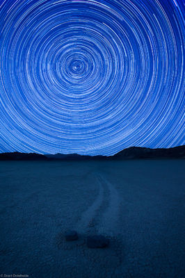 racetrack, stars, death, valley, national park, california, usa, rotating, bizarre, rocks, playa, clay, move, mysterious