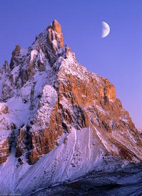 pala, cimon, della, italy, san martino di castrozza, moon, sunset, double exposure, film, beautiful, night
