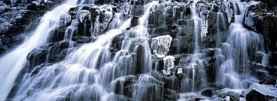 yankee boy basin, waterfall, ice, ouray, colorado, spring, winter, cold, beautiful