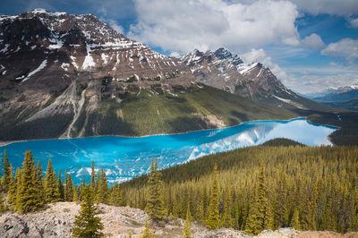 peyto, lake, banff, canada, alpine, glacier, glacier-fed, icefields, national, park,