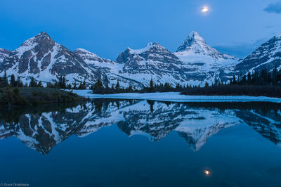assiniboine, moon, canada, tarn, reflection, british columbia