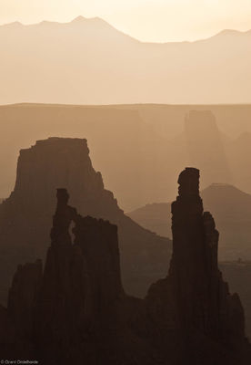 canyonlands, morning, island in the sky, national park, utah, hazy