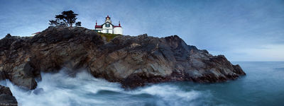 lighthouse, crescent city, california, ships, port, cliff, guide